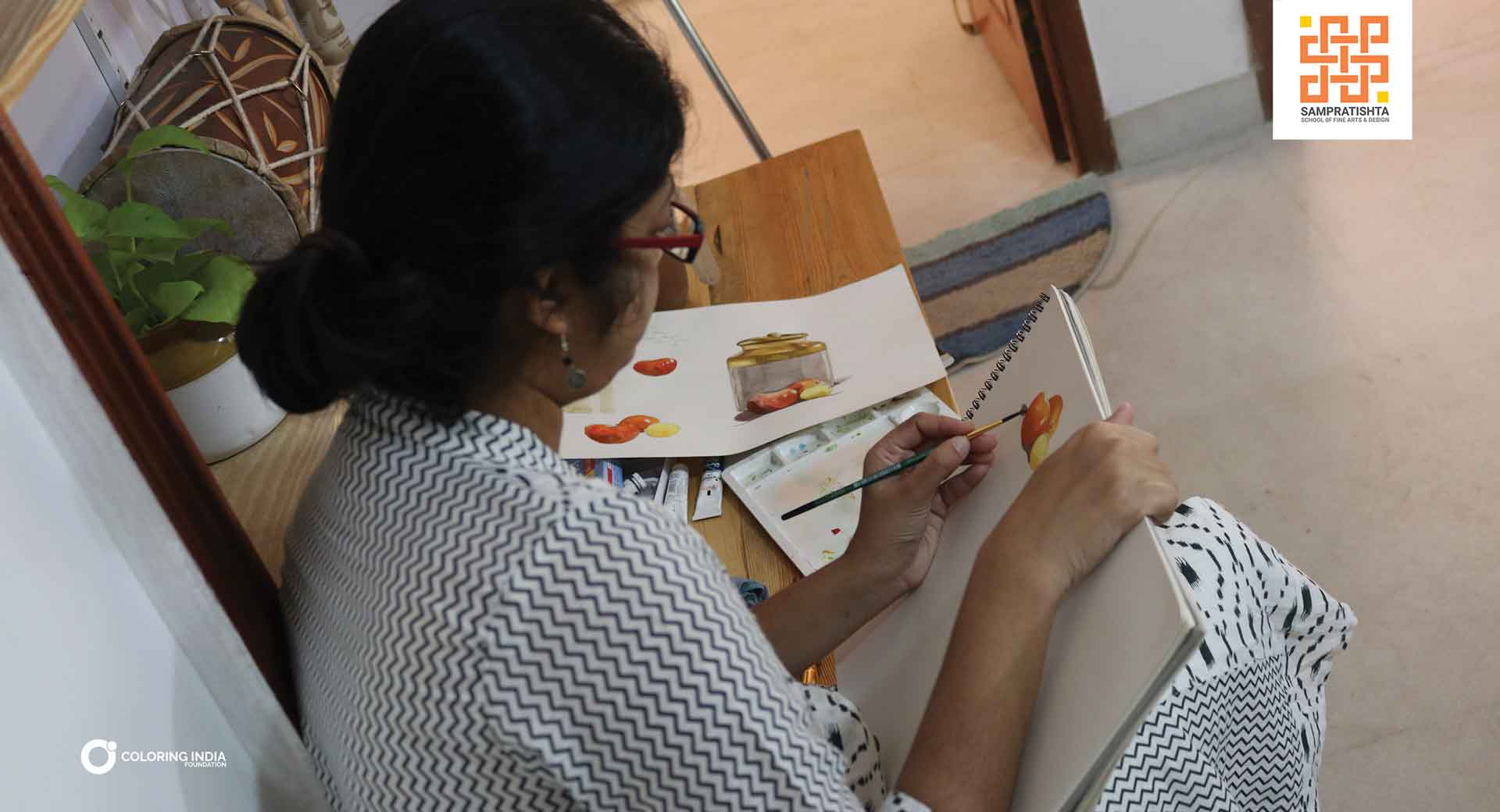SPECIALIZE IN WATERCOLOR PAINTING AT SAMPRATISHTA