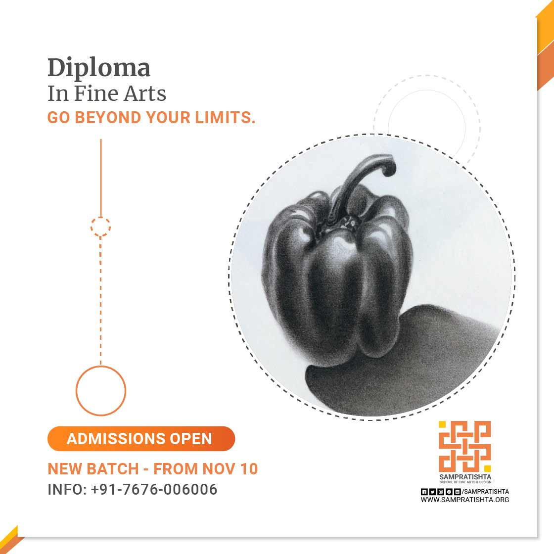 Diploma inf fine arts, Sampratishta school of fine arts, bangalore