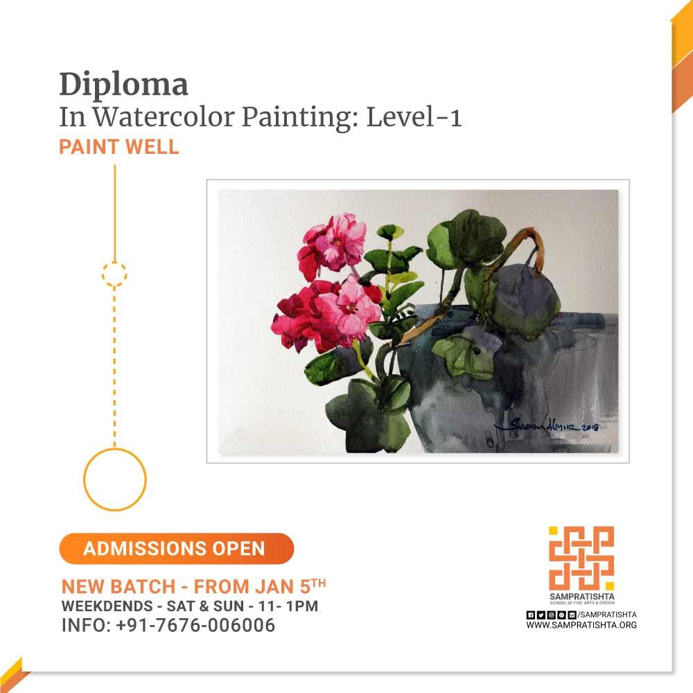 Diploma-in-Watercolor-Painting---Level-1--Sampratishta-School-of-Fine-Arts-And-Design