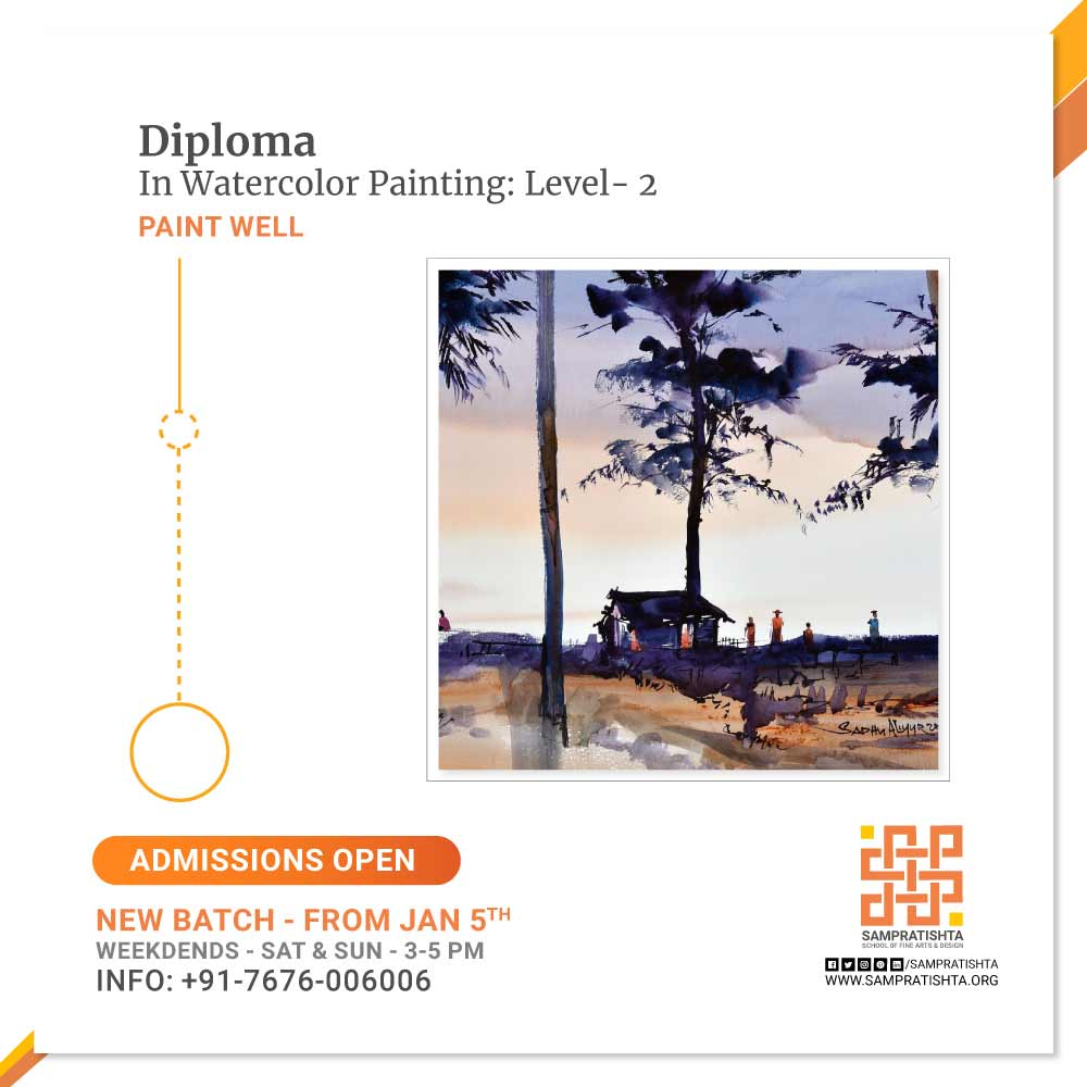 Diploma-in-Watercolor-Painting---Level-2--Sampratishta-School-of-Fine-Arts-And-Design