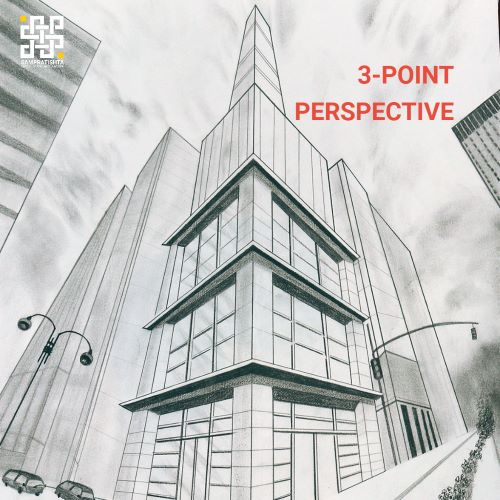 THREE POINT PERSPECTIVE DRAWING