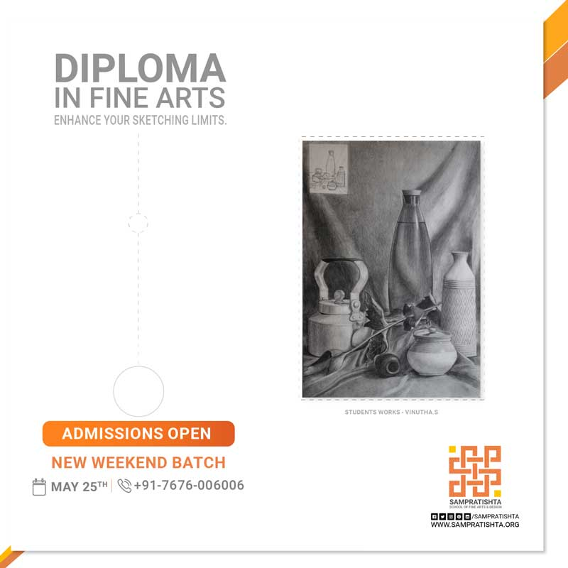 Learn-sketching-on-weekends_Diploma-in-Fine-Arts-by-Sampratishta