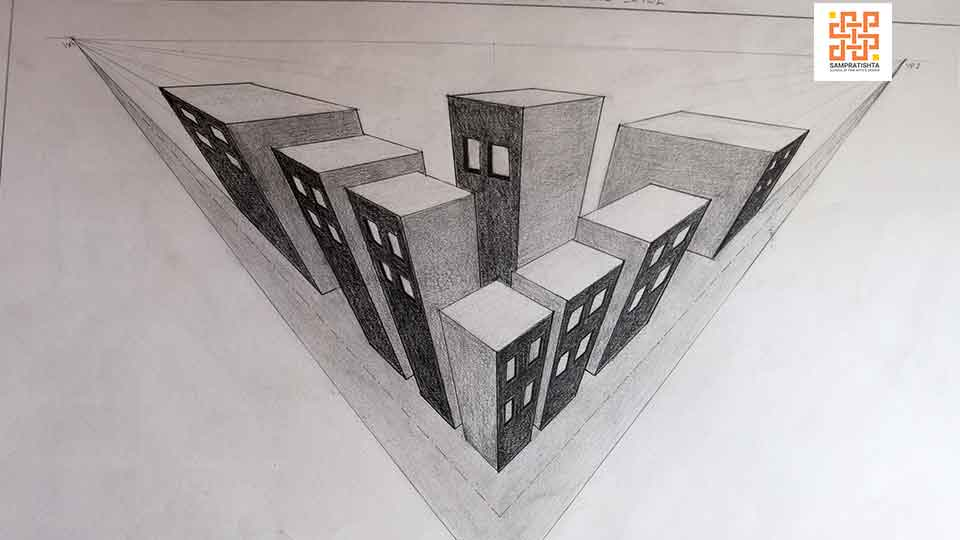 Assignments--three-point-Perspective-birds-view-by-Varuni-at-Sampratishta