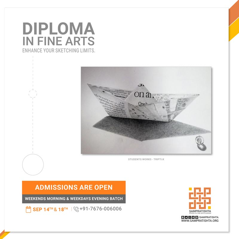 Learn sketching in a structured and systematic way. The best art school in Bangalore